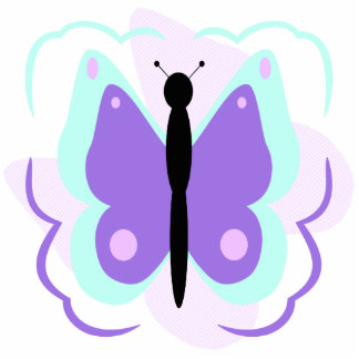 Pretty Cyan And Purple Butterfly Ornament