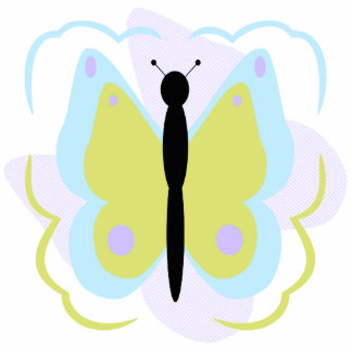 Pretty Cyan And Yellow Butterfly Ornament
