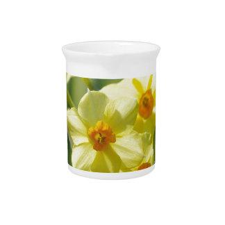 Pretty Daffodils, Narcissus 03.3 Drink Pitcher