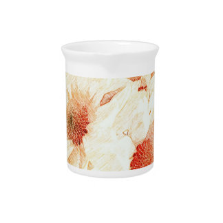 Pretty Daisies Ceramic Pitcher
