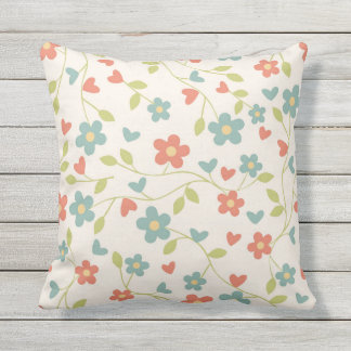 Pretty Daisies In Multi Colors Outdoor Pillow