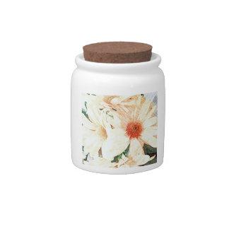 Pretty Daisies Storage Jar Candy Dishes