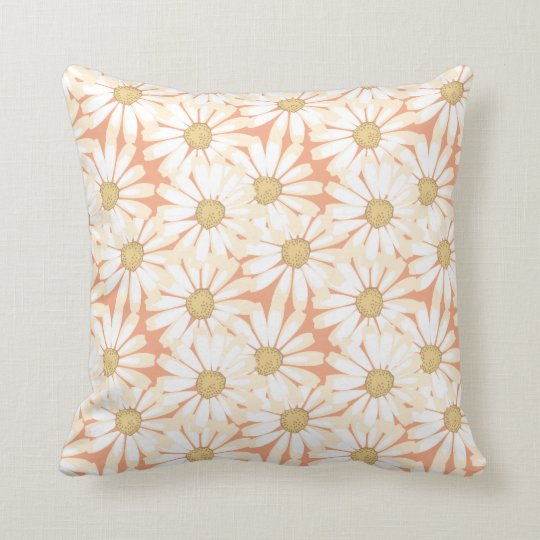 pretty daisies throw pillow