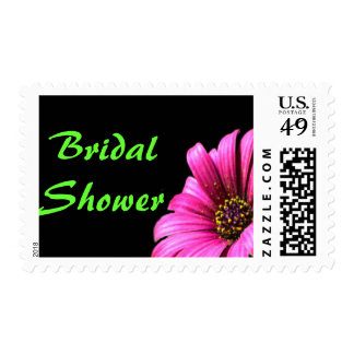 Pretty Daisy Bridal Shower Custom Postage Stamp
