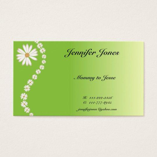 Pretty Daisy Calling Card