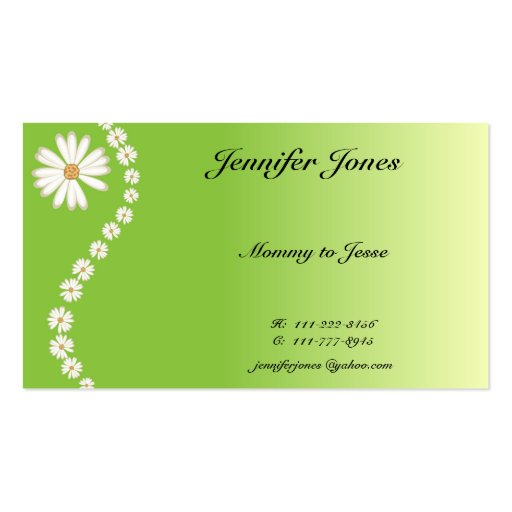 Pretty Daisy Calling Card Business Cards