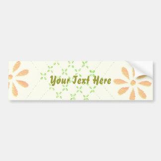 Pretty Daisy Flowers Car Bumper Sticker