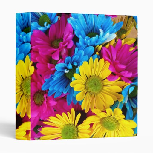 Pretty Daisy Flowers Colorful Petals Gifts Binder