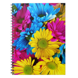Pretty Daisy Flowers Colorful Petals Gifts Spiral Note Book