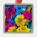 Pretty Daisy Flowers Colorful Petals Gifts Christmas Tree Ornament