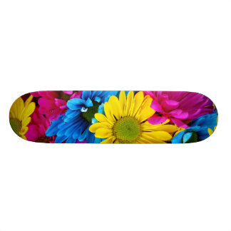 Pretty Daisy Flowers Colorful Petals Gifts Skate Boards