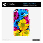 Pretty Daisy Flowers Colorful Petals Gifts Skins For iPod Touch 4G