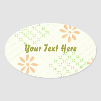 Pretty Daisy Flowers Oval Sticker