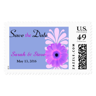 Pretty Daisy Save the Date Postage Stamp