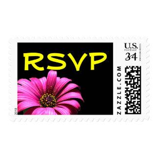 Pretty Daisy Wedding RSVP Postage Stamp