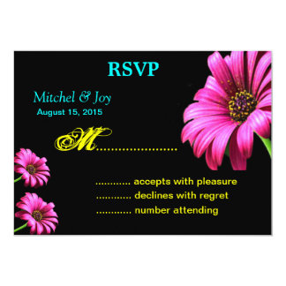 Pretty Daisy Wedding RSVP Reply Cards