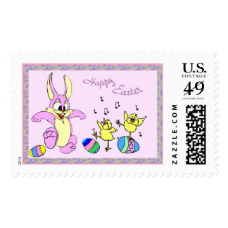 Pretty Dancers Easter Stamp