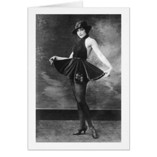 Pretty Dancing Girl 1910s Card