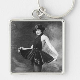 Pretty Dancing Girl 1910s Key Chains