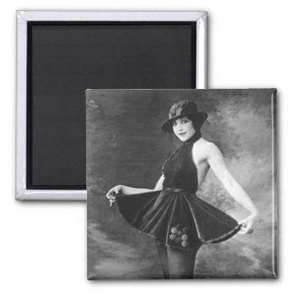 Pretty Dancing Girl 1910s Fridge Magnet