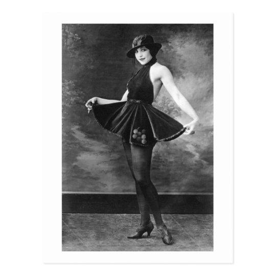 Pretty Dancing Girl, 1910s Postcard