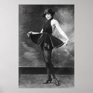 Pretty Dancing Girl, 1910s Poster