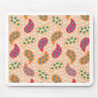 Pretty Dancing Paisley Mouse Pad