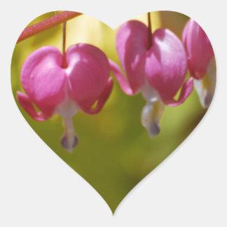 Pretty Dangling Bleeding Heart Flowers Heart Sticker