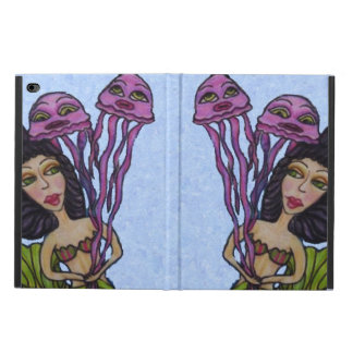 Pretty Dark Haired Mermaid Pink Jellyfish Powis iPad Air 2 Case