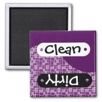 Pretty Dark Purple Clean Dirty Dishwasher Magnet