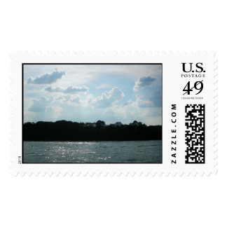 Pretty Day at the Lake Postage Stamps