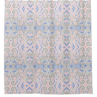 Pretty Decorative Pattern Pink And Blue Shower Curtain