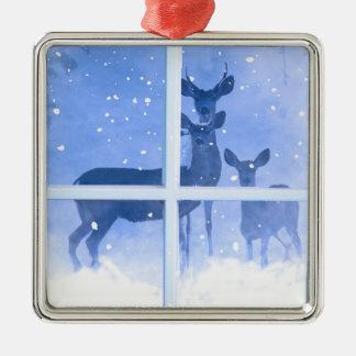 Pretty Deer Family Christmas Ornament