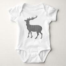 Pretty deer pattern baby bodysuit
