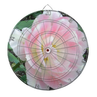 Pretty Delicate Feminine Flower White Pink Gifts Dart Board