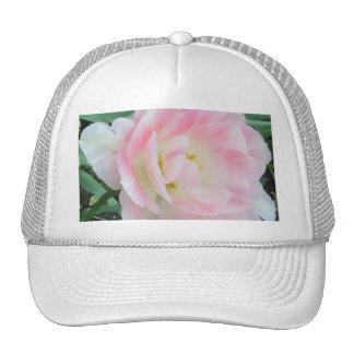Pretty Delicate Feminine Flower White Pink Gifts Mesh Hats