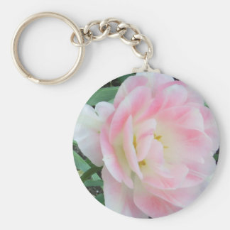 Pretty Delicate Feminine Flower White Pink Gifts Key Chains