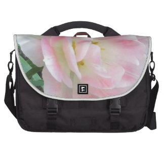Pretty Delicate Feminine Flower White Pink Gifts Bag For Laptop