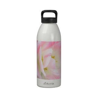 Pretty Delicate Feminine Flower White Pink Gifts Reusable Water Bottle