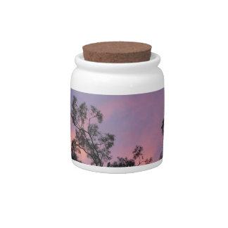 Pretty designer storage jar - Ironbark Sunset Candy Jar