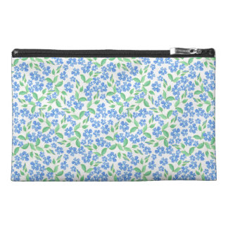 Pretty Ditsy Blue Green White Periwinkle Flowers Travel Accessories Bags