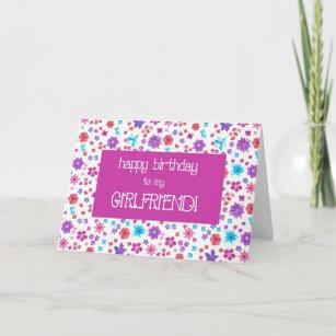 Happy birthday flower collage gifts on zazzle pretty ditsy floral for a girlfriend birthday card mightylinksfo