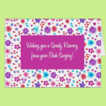 Pretty Ditsy Floral Get Well from Back Surgery Card