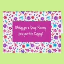 Pretty Ditsy Floral Get Well from Hip Surgery Card
