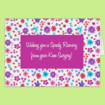 Pretty Ditsy Floral Get Well from Knee Surgery Card