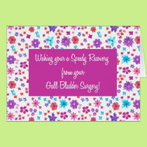 Pretty Ditsy Floral Get Well Gall Bladder Surgery Card