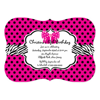 Pretty Diva Birthday Girl Party Invitations