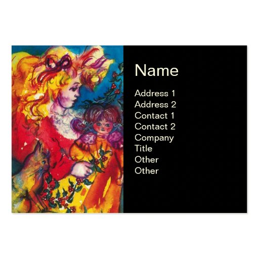 PRETTY DOLL BUSINESS CARD TEMPLATES