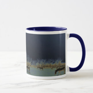 Pretty Donkey Burro Herd Nightscape Mug