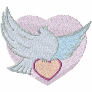 Pretty Dove and Heart Pocket